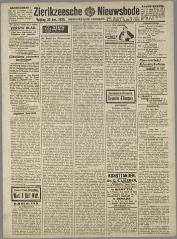 Zierikzeesche Nieuwsbode 1925-01-30