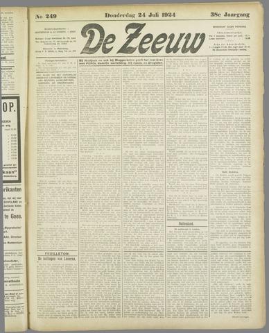 De Zeeuw. Christelijk-historisch nieuwsblad voor Zeeland 1924-07-24