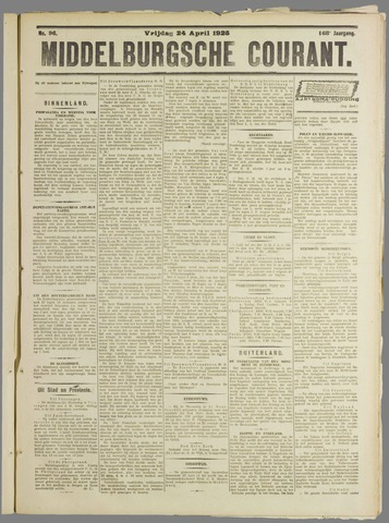 Middelburgsche Courant 1925-04-24