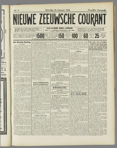 Nieuwe Zeeuwsche Courant 1916-01-15