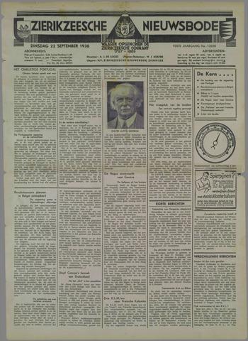Zierikzeesche Nieuwsbode 1936-09-22