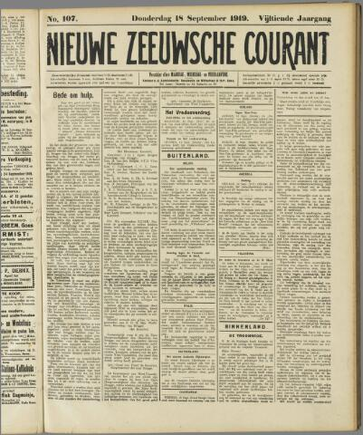 Nieuwe Zeeuwsche Courant 1919-09-18