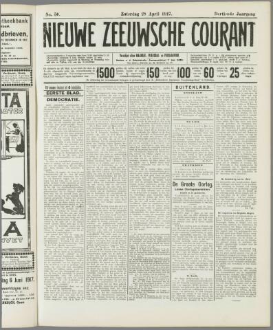 Nieuwe Zeeuwsche Courant 1917-04-28