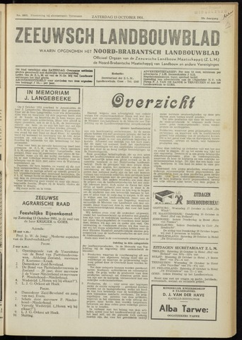 Zeeuwsch landbouwblad ... ZLM land- en tuinbouwblad 1951-10-13