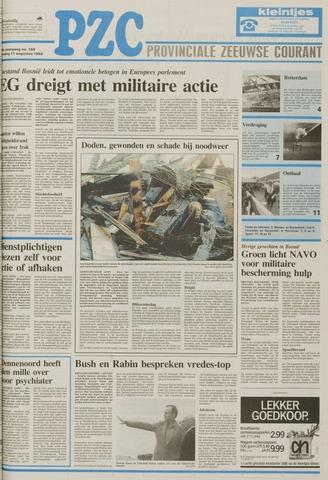 Provinciale Zeeuwse Courant 1992-08-11