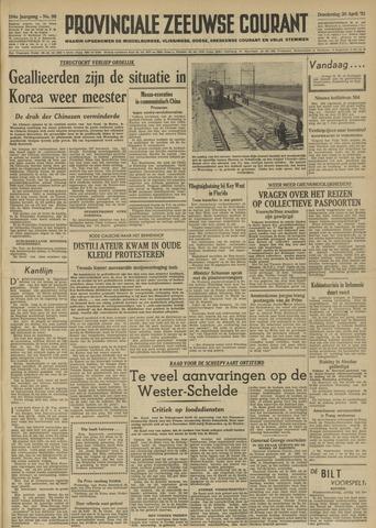 Provinciale Zeeuwse Courant 1951-04-26