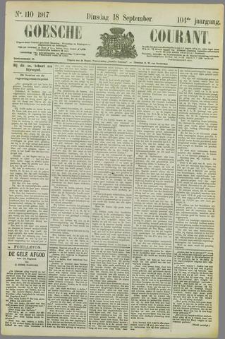 Goessche Courant 1917-09-18