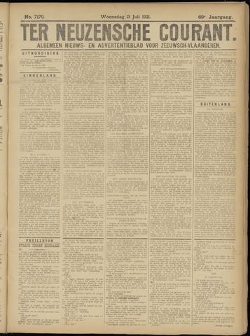 Ter Neuzensche Courant. Algemeen Nieuws- en Advertentieblad voor Zeeuwsch-Vlaanderen / Neuzensche Courant ... (idem) / (Algemeen) nieuws en advertentieblad voor Zeeuwsch-Vlaanderen 1921-07-13