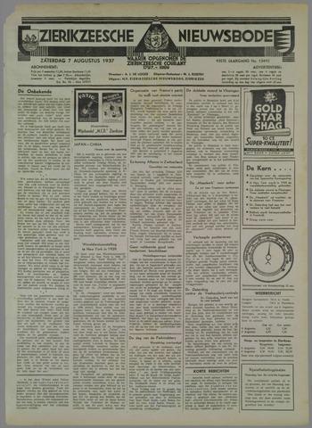Zierikzeesche Nieuwsbode 1937-08-07