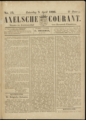 Axelsche Courant 1886-04-03