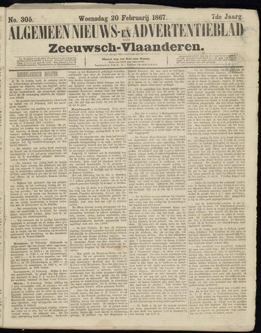 Ter Neuzensche Courant. Algemeen Nieuws- en Advertentieblad voor Zeeuwsch-Vlaanderen / Neuzensche Courant ... (idem) / (Algemeen) nieuws en advertentieblad voor Zeeuwsch-Vlaanderen 1867-02-20