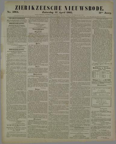 Zierikzeesche Nieuwsbode 1885-04-11