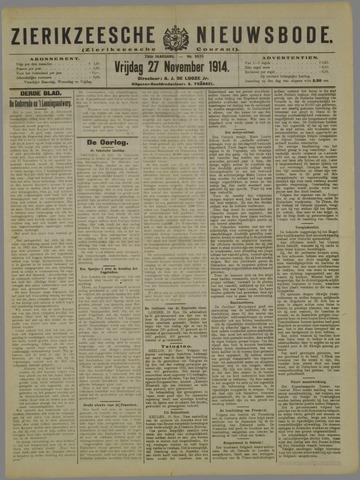 Zierikzeesche Nieuwsbode 1914-11-27