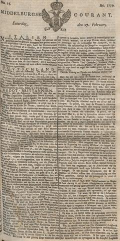 Middelburgsche Courant 1779-02-27