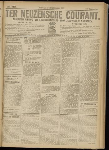 Ter Neuzensche Courant. Algemeen Nieuws- en Advertentieblad voor Zeeuwsch-Vlaanderen / Neuzensche Courant ... (idem) / (Algemeen) nieuws en advertentieblad voor Zeeuwsch-Vlaanderen 1916-09-12