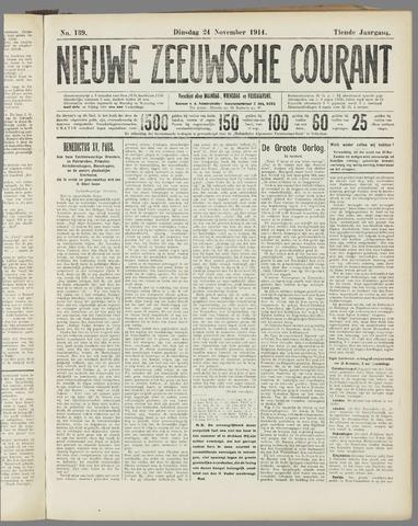 Nieuwe Zeeuwsche Courant 1914-11-24