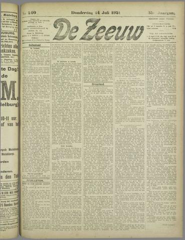 De Zeeuw. Christelijk-historisch nieuwsblad voor Zeeland 1921-07-14