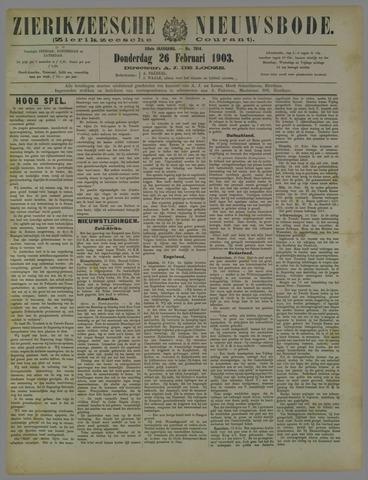 Zierikzeesche Nieuwsbode 1903-02-26