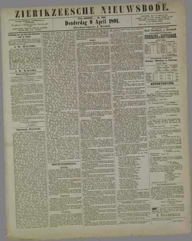 Zierikzeesche Nieuwsbode 1891-04-09