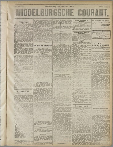Middelburgsche Courant 1922-03-29