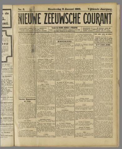 Nieuwe Zeeuwsche Courant 1919-01-09