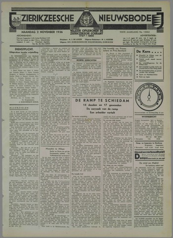 Zierikzeesche Nieuwsbode 1936-11-02