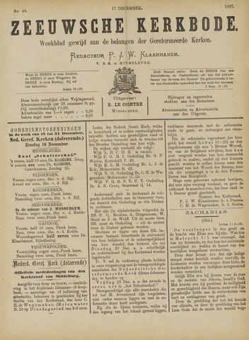 Zeeuwsche kerkbode, weekblad gewijd aan de belangen der gereformeerde kerken/ Zeeuwsch kerkblad 1887-12-17