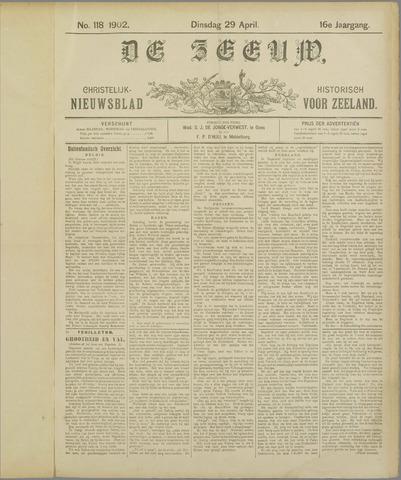 De Zeeuw. Christelijk-historisch nieuwsblad voor Zeeland 1902-04-29