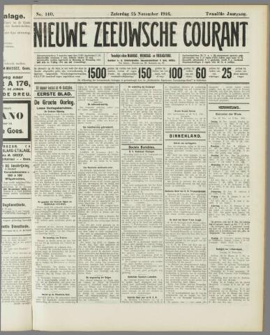 Nieuwe Zeeuwsche Courant 1916-11-25
