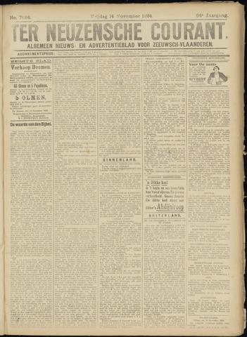 Ter Neuzensche Courant. Algemeen Nieuws- en Advertentieblad voor Zeeuwsch-Vlaanderen / Neuzensche Courant ... (idem) / (Algemeen) nieuws en advertentieblad voor Zeeuwsch-Vlaanderen 1924-11-14