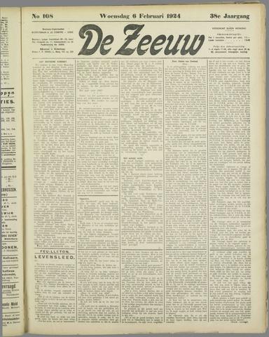 De Zeeuw. Christelijk-historisch nieuwsblad voor Zeeland 1924-02-06