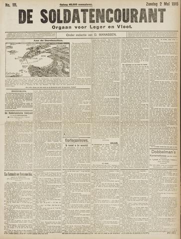 De Soldatencourant. Orgaan voor Leger en Vloot 1915-05-02
