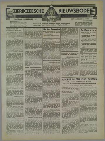 Zierikzeesche Nieuwsbode 1941-02-25