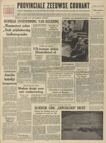 Provinciale Zeeuwse Courant 1962-07-13