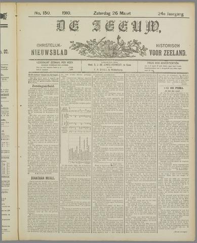 De Zeeuw. Christelijk-historisch nieuwsblad voor Zeeland 1910-03-26