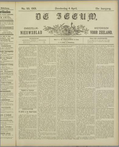 De Zeeuw. Christelijk-historisch nieuwsblad voor Zeeland 1901-04-04