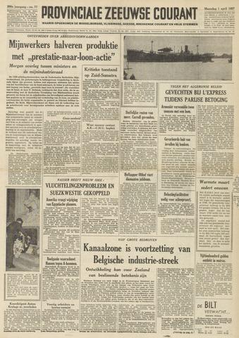 Provinciale Zeeuwse Courant 1957-04-01