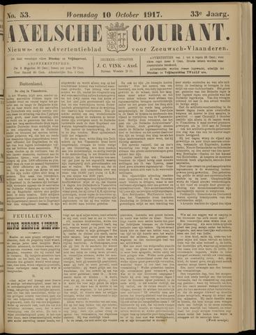 Axelsche Courant 1917-10-10