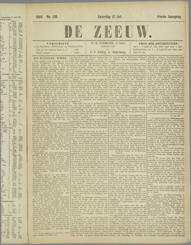 De Zeeuw. Christelijk-historisch nieuwsblad voor Zeeland 1890-07-12
