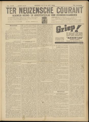 Ter Neuzensche Courant. Algemeen Nieuws- en Advertentieblad voor Zeeuwsch-Vlaanderen / Neuzensche Courant ... (idem) / (Algemeen) nieuws en advertentieblad voor Zeeuwsch-Vlaanderen 1936-03-11