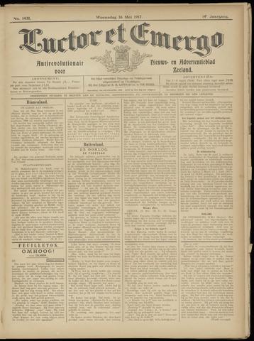 Luctor et Emergo. Antirevolutionair nieuws- en advertentieblad voor Zeeland / Zeeuwsch-Vlaanderen. Orgaan ter verspreiding van de christelijke beginselen in Zeeuwsch-Vlaanderen 1917-05-16