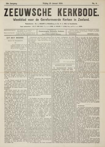 Zeeuwsche kerkbode, weekblad gewijd aan de belangen der gereformeerde kerken/ Zeeuwsch kerkblad 1924-01-25