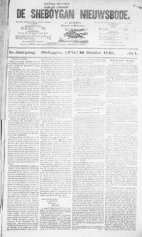 Sheboygan Nieuwsbode 1849