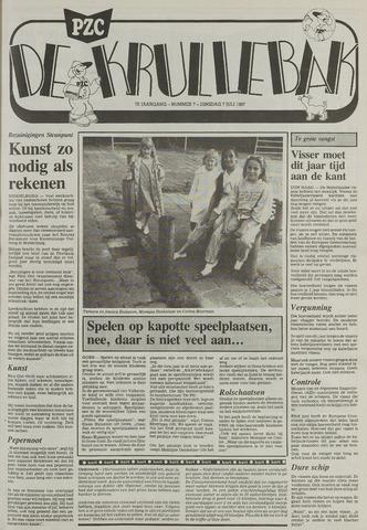 Provinciale Zeeuwse Courant katern Krullenbak (1981-1999) 1987-07-07