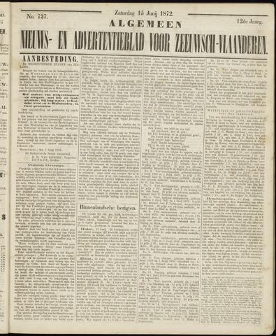 Ter Neuzensche Courant. Algemeen Nieuws- en Advertentieblad voor Zeeuwsch-Vlaanderen / Neuzensche Courant ... (idem) / (Algemeen) nieuws en advertentieblad voor Zeeuwsch-Vlaanderen 1872-06-15
