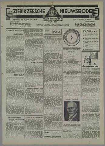 Zierikzeesche Nieuwsbode 1936-08-21