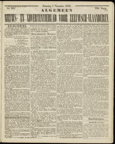 Ter Neuzensche Courant. Algemeen Nieuws- en Advertentieblad voor Zeeuwsch-Vlaanderen / Neuzensche Courant ... (idem) / (Algemeen) nieuws en advertentieblad voor Zeeuwsch-Vlaanderen 1873-11-01