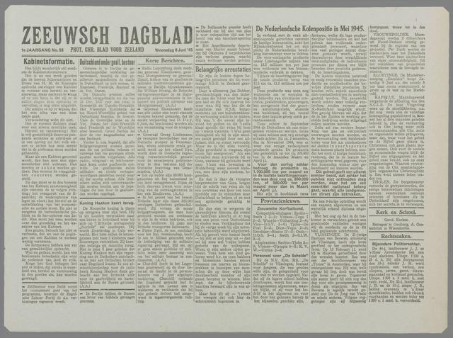 Zeeuwsch Dagblad 1945-06-06
