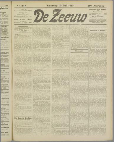 De Zeeuw. Christelijk-historisch nieuwsblad voor Zeeland 1915-07-10