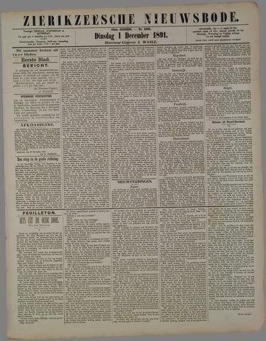 Zierikzeesche Nieuwsbode 1891-12-01